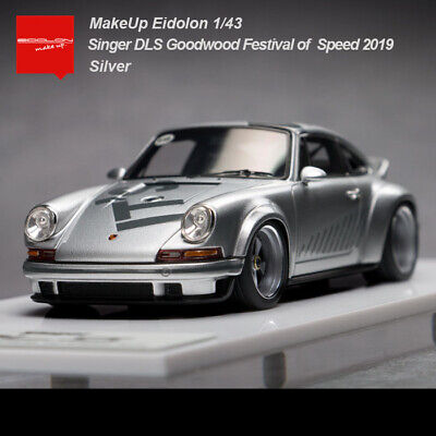 New MAKE UP 1:43 Scale Porsche Singer DLS Speed 2019 Silver Limited Car Model