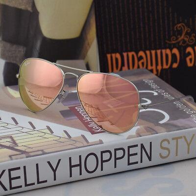 Ray Ban Sunglasses RB3025 019/Z2 Matte Silver frame Pink Coper Mirror lens 58mm