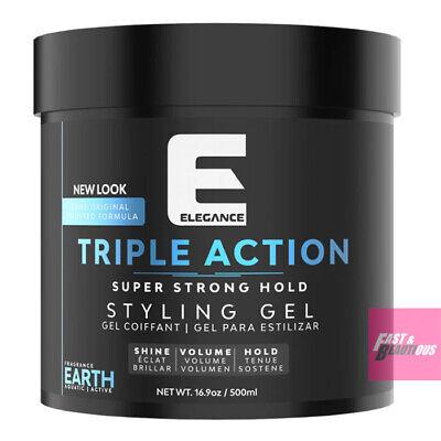 EARTH-Sada Pack Elegance Triple Action Hair Styling Gel Extra Strong Hold 1000ml - Gel Triple Pack
