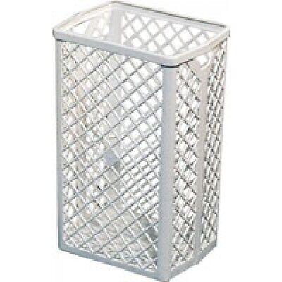 Papierkorb - Gitterkorb aus weißem Kunststoff - rechteckig 35 Liter