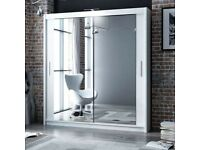 BRAND NEW CHICAGO MIRROED SLIDING DOORS WARDROBE ON MEGA SALE WITH FREE DELIVERY CASH ON DELIVERY 🖤