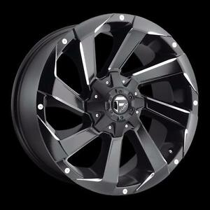 "BRAND NEW Fuel ""Razor"" D592 20"" Rims Black/Milled Ford Chevy GMC $1489/set!"