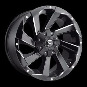 "BRAND NEW Fuel ""Razor"" D592 20"" Rims Black/Milled Ford Chevy GMC $1489/set!"