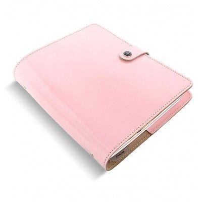Filofax Original Organizer A5 Patent Rose Leather - Made In The Uk  Ay-022598