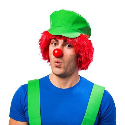 Schildmütze // Grün // Videospiel Hut // Kostümmütze Super Klempner