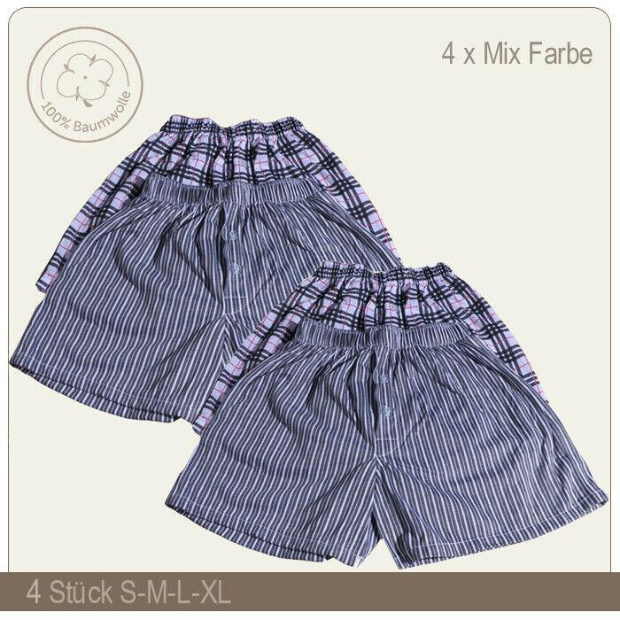 4 Stk. Herren Boxer Shorts Webboxer Retro-shorts Unterhosen Größe S-M-L-XL