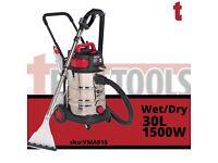 Sealey VMA915 Valet Machine Wet & Dry 30ltr Stainless Carpet Upholstery Cleaner