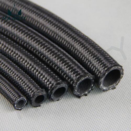 Universal 3 Meter Black Nylon Braided Hose Kit /& Swivel Fitting Coolant Oil AN12