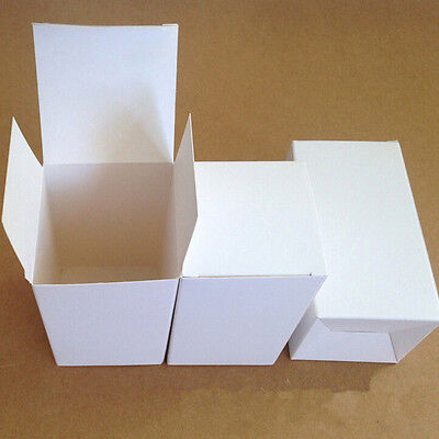 White Cardboard Box Gift Jewelry Packaging Perfume Wedding Favor Candy Packing