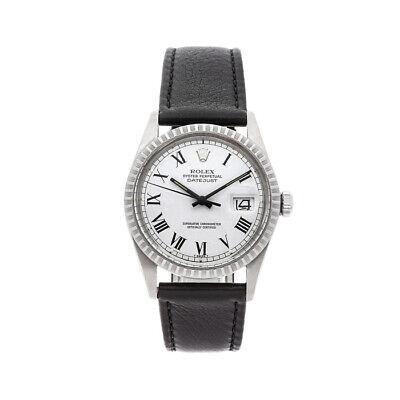 Rolex Datejust Auto 36mm Steel Mens Strap Watch 16030
