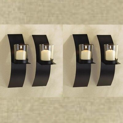 4 Small Sconces Candle Holder Wall Plaque Decor Wall Sconce Iron Candle Holder