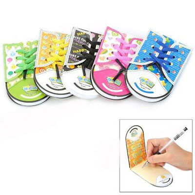 Creative Stationery Shoelace Shoe Style Note Pad Notebook Sticker Bookmark Paper
