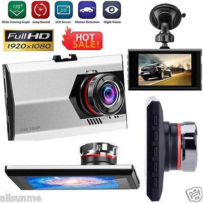 "3"" Night Vision HD 1080P G-sensor Car DVR Vehicle Camera Video Recorder Dash Cam"