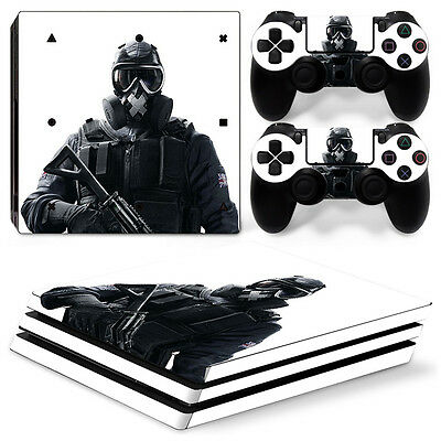 Sony PS4 PlayStation 4 Pro Skin Sticker Screen Protector Set - Soldier Motif
