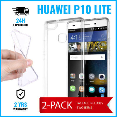2IN1 Transparent Cas Gel Case Cover Etui Coque Silicone TPU For Huawei P10 Lite