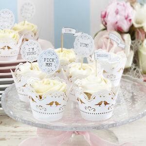 Vintage Wedding Cake Decorations Uk : Wedding Cupcake Toppers: Cake Decorating eBay
