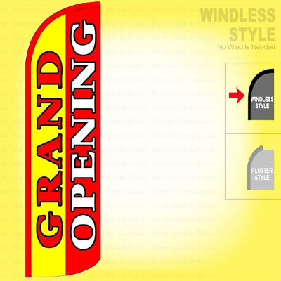 Grand Opening - Windless Swooper Flag 3x11.5 Ft Feather Banner Sign Yrq005