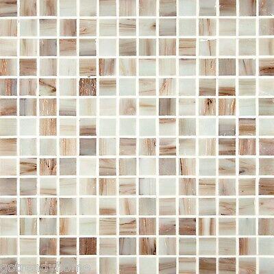 Sample- Natural White Iridescent Mosaic Tile Kitchen Backsplash Bath Wall Sink