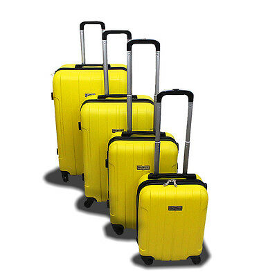 Изображение товара New Generic 4PCS Luggage Travel Set Bag ABS Trolley Suitcase w/ Lock Yellow