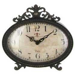 Black Pewter Table Clock Stylish Home Decor catch your eye