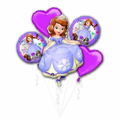 Disney Junior Sofia the First Princes 5pc Mylars Birthday Bouquet Foil Balloons