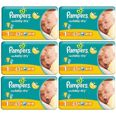 PAMPERS New Baby Windeln Gr.1 Newborn 2-5 kg (43 Windeln/Packung) MENGENRABATT