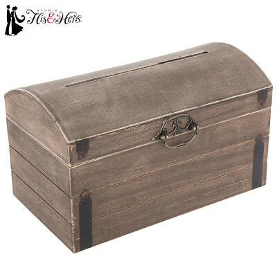 Elegant Rustic Country Antique Wood Wedding Card Gift Box Vintage Wishing Well