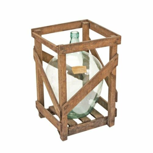Crated Demijohn