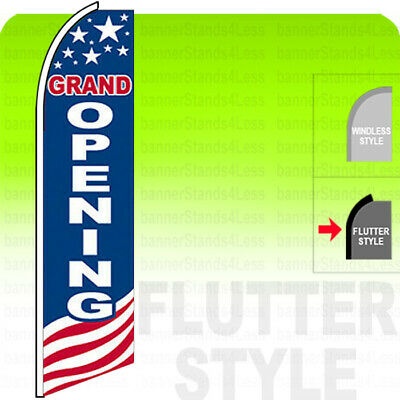 Grand Opening - Swooper Flag Feather Sign 11.5 Flutter Style Usabb