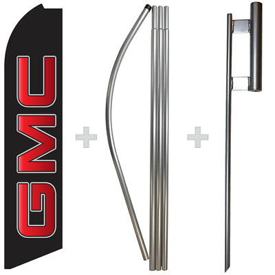 Gmc 15 Tall Swooper Flag Pole Kit Feather Super Banner