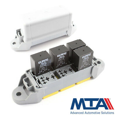 6 Way Micro Relay Holder / Box 12v 24v -Complete with Terminals - MTA Italy