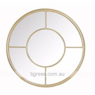 NEW Port Round Wall Mirror Gold Antique Finish 60cm Castle Hill The Hills District Preview