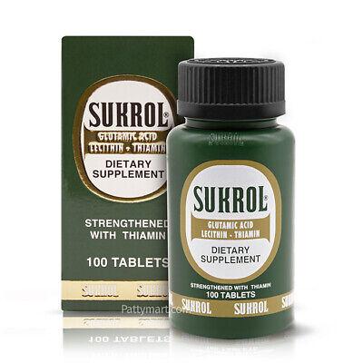 1 SUKROL DIETARY SUPPLEMENT 100 TABS / SUPLEMENTO ALIMENTICIO SUKROL