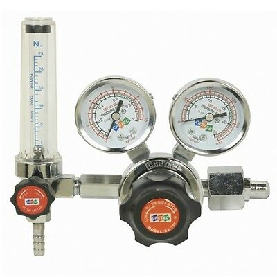 Nitrogen Gas Regulator Pressure Flow Meter Gauges Cretec Ex-707