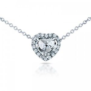 (BRAND NEW) CULET UP HEART DIAMOND HALO NECKLACE 3/5 CTW IN 14K Castle Hill The Hills District Preview