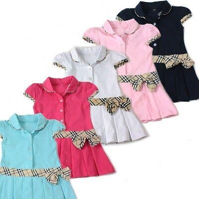 Modernes  Mädchenkleid Karokleid Tenniskleid   neu Gr. 74, 80, 86, 92, 98 rosa
