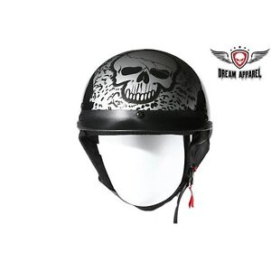 Boneyard Silver DOT Approved Helmet