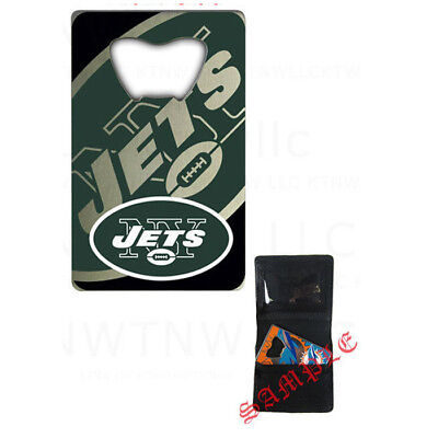 New NFL New York Jets Beer Soda Bottle Opener Credit Card Style Made In USA