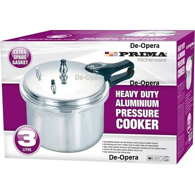 3 LITRE PRESSURE COOKER ALUMINIUM 3L KITCHEN CATERING HOME BRAND NEW