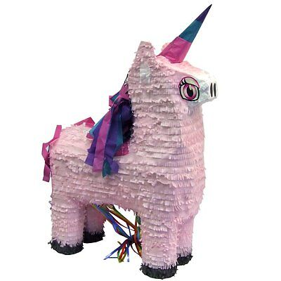 Indoor Birthday Party Games (Unicorn Pull Pinata Game - Pink Princess Birthday Party Indoor or Outdoor Games)