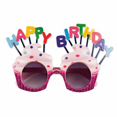 y in Muffinform mit bunten Buchstaben (Happy Birthday Brille)