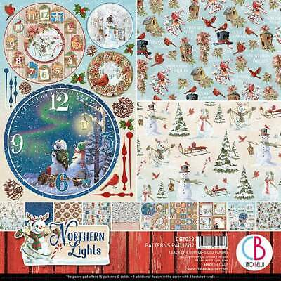 "CBT038 Ciao Bella NORTHERN LIGHTS Double-Sided Paper Pad 12""X12"" 8/Pkg"