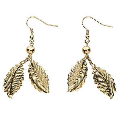 Ohrringe Loorbeerblätter, gold, Goldschmuck Kostümzubehör Römerin - Kostüm Schmuck Ohrringe