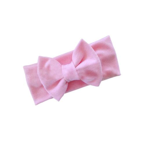 Girls-Kids-Baby-Cotton-Bow-Hairband-Headband-Stretch-Turban-Knot-Head-Wrap-New