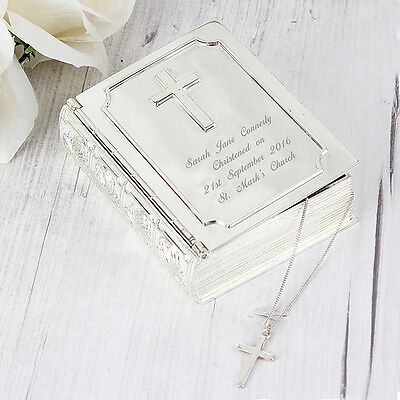 PERSONALISED BIBLE TRINKET First Holy Communion Christening Baptism Gift - First Communion Ideas
