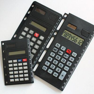 Creative Loose Leaf Binder Spiral Calculator for Agenda Filofax 8 Digits 6 Holes