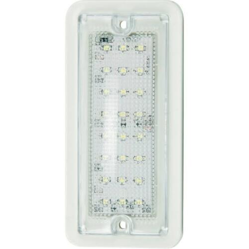 "5.75"" Rectangular LED Dome Light /White Housing W/ Screws"