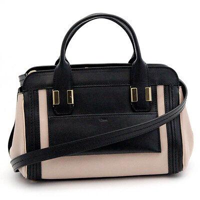 NWT Authentic Chloe Chloé ALICE Leather CrossBody Shoulder Hand Bag Purse 2WAY