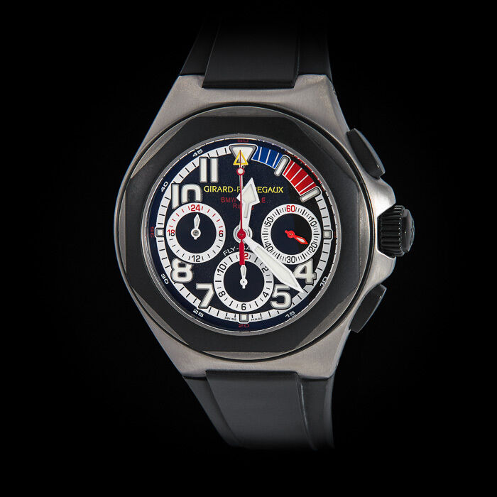 "Girard Perregaux  Titanium BMW Oracle Laureato Flyback Chrono. ""Team Watch"" Mint - watch picture 1"