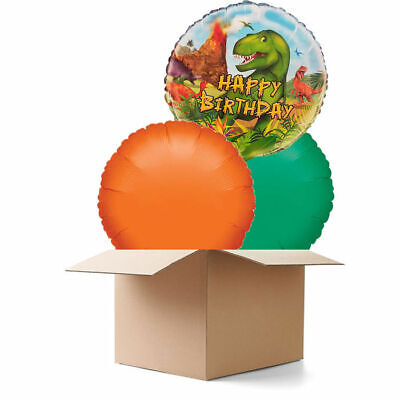 Ballongeschenk zum Geburtstag DINOSAURIER | Fertig Heliumgefüllt, mit Gewicht